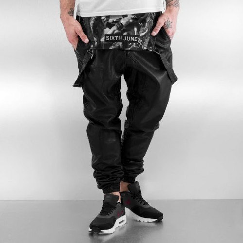 Pantaloni barbati Sixth June Streetwear cu bretele - size  L