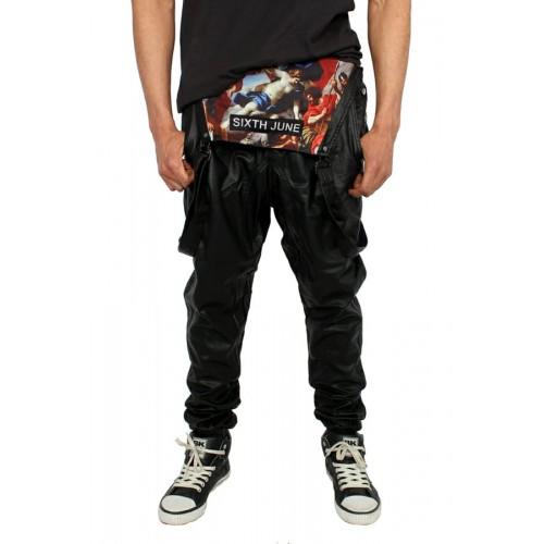 Pantaloni barbati Sixth June Streetwear cu bretele Colours - size  L