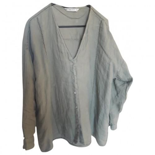 Camasa dama Zara Linen grn - size L