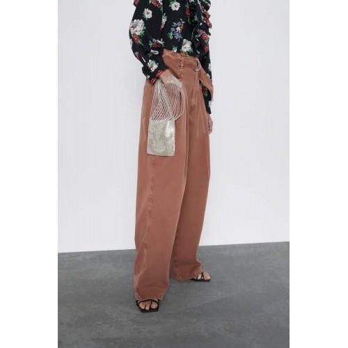 Pantaloni dama Zara Hw brown , size 38