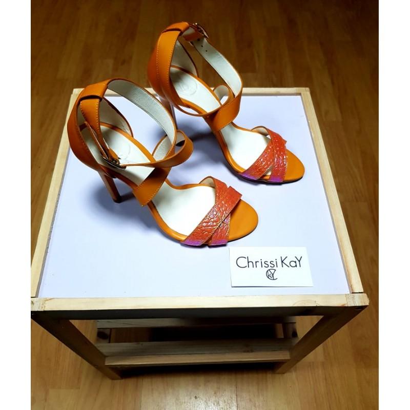 Sandale Chrissi Kay Leather Safari Orange