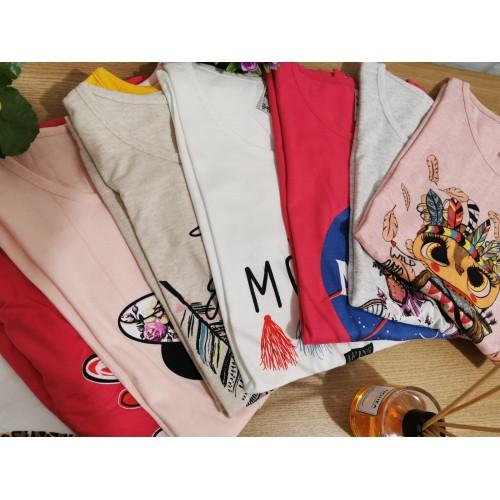 NOU - Stoc tricouri dama SUMMER MIX - 30 buc
