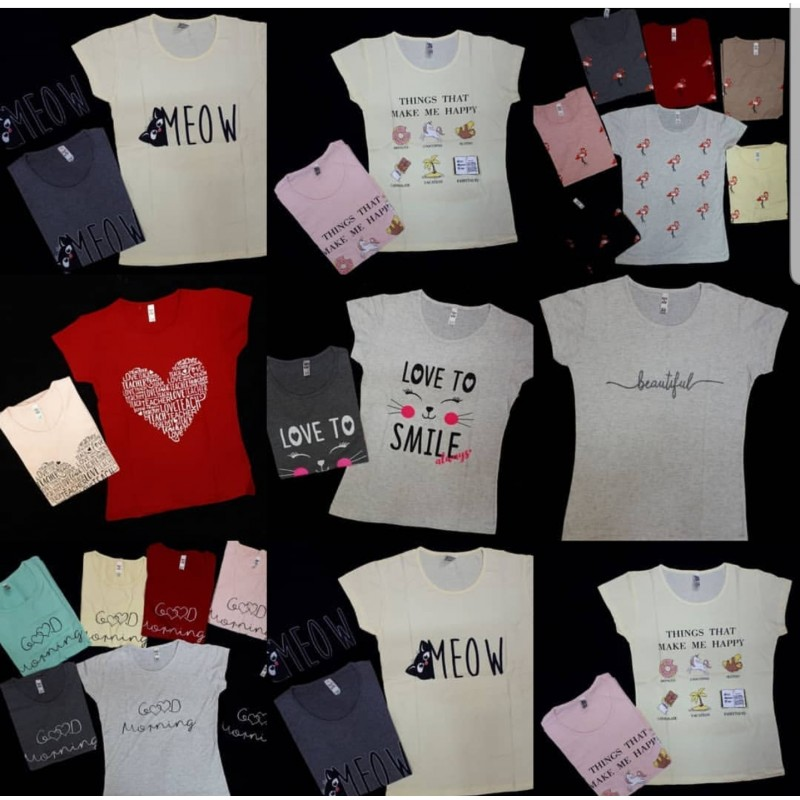 Tricouri dama Summer Design  MARIMI LA ALEGERE - 20 buc
