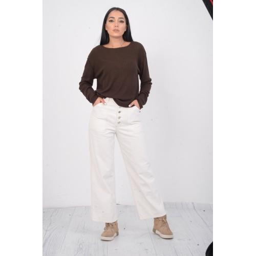 Pantaloni albi Zara size 38